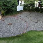 竪穴住居跡をレンガで表示