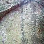 岩に刻まれた梵字